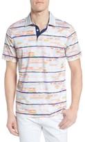 Bugatchi Men's Stripe Print Jersey Polo