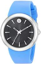 Philip Stein Teslar ' Japanese Quartz Stainless Steel and Silicone Watch, Color:Blue (Model: F36S-LCB-BL)