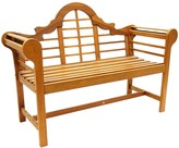The Well Appointed House Lutyen Outdoor Wooden Bench in a Natural Oil Finish-Available in Two Different Sizes