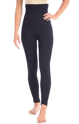 Body Beautiful Women's Leggings BLACK - Black Extra High-Waisted Shaping Leggings - Women & Plus