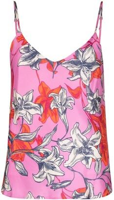 Black Coral Floral-Print Camisole