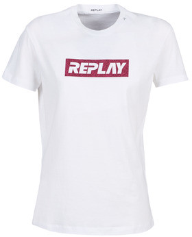 Replay W3940U-000-22658-100 women's T shirt in White