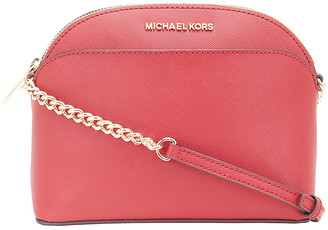 Michael Kors Women's Crossbodies SCARLET - Scarlet Jet Set Travel Dome Leather Crossbody Bag