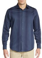 Report Collection Regular-Fit Hombre Striped Cotton Sportshirt
