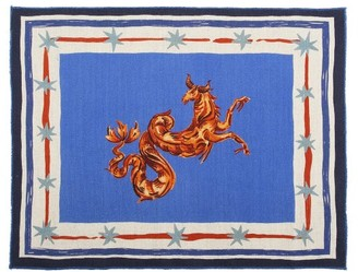 Gergei Erdei - Set Of Two Taurus Linen Placemats - Blue Multi