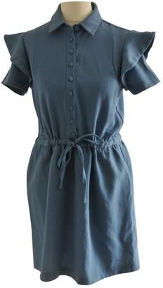 MAISON KITSUNÉ Blue Wool Dresses