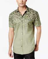 INC International Concepts Men's Ombre Leopard Shirt, Created for Macy's