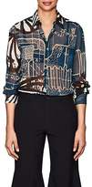 Comme des Garcons Women's Abstract-Print Sheer Chiffon Blouse