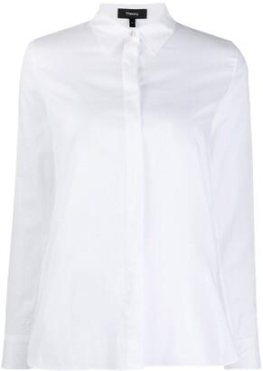 Theory Point-Collar Poplin Shirt