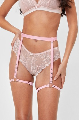 Nasty Gal Womens O-Ring Body Harness - Pink - One Size