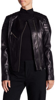 Soia & Kyo Leather Asymmetrical Moto Jacket