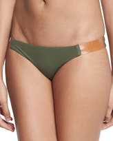 Vix Leather-Strap Swim Bottom