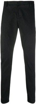 Dondup Black Stretch-cotton Trousers