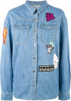 Kenzo badges boyfriend denim shirt - women - Cotton - 34