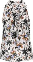 A.L.C. Steele ruffled printed silk crepe de chine blouse