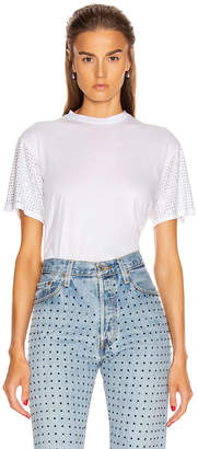 Frankie B. Alanis Crystals Boyfriend Tee in Dirty White | FWRD
