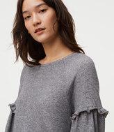 LOFT Ruffle Sleeve Sweatshirt