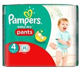 Pampers Baby-Dry Pants Size 4 Carry Pack 23 Nappies - Pack of 2