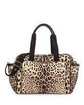 Dolce & Gabbana Cheetah-Print Nylon Diaper Bag, Tan