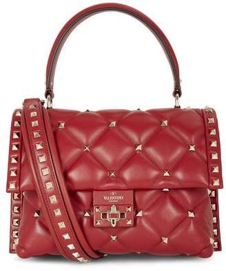 Valentino Garavani Medium Candystud Top Handle Quilted Leather Bag