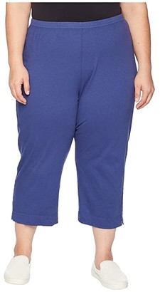 Fresh Produce Plus Size Jersey Capri Pants (Moonlight Blue) Women's Casual Pants
