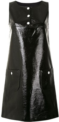 Paule Ka Faux-Leather Mini Dress
