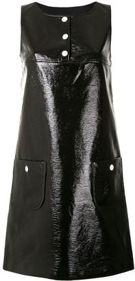 Paule Ka Faux-Leather Mini Dress