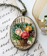 Designs By Karamarie Designs by KaraMarie Women's Necklaces - Bronzetone Glass Floral Bouquet Pendant Necklace