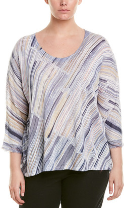 Nic+Zoe Plus Linen-Blend Top