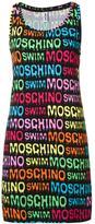 Moschino logo print beach dress