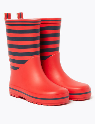 Marks and Spencer Kids' Striped Wellies (5 Small - 12 Small)