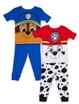 AME Sleepwear Baby's Paw Patrol Four-Piece Tee & Pajama Pants Set