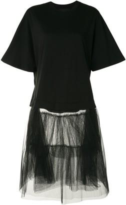 Simone Rocha tulle-skirt T-shirt dress
