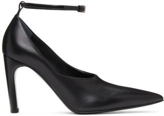 Jil Sander SSENSE Exclusive Black Ankle Strap Pumps