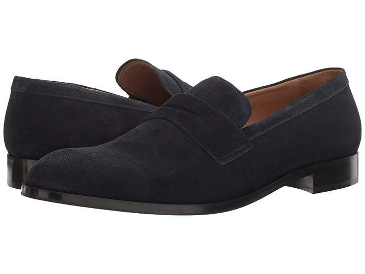 Emporio Armani Suede Penny Loafer Men's Shoes