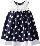 Bonnie Jean Little Girls' Dot Nautical A-Line Dress