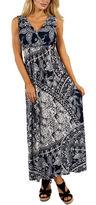 24/7 Comfort Apparel Indigo Seas Maxi Dress