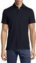 Ralph Lauren Active Zip-Front Pique Polo Shirt, Navy