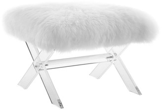 Modway Swift Sheepskin Bench