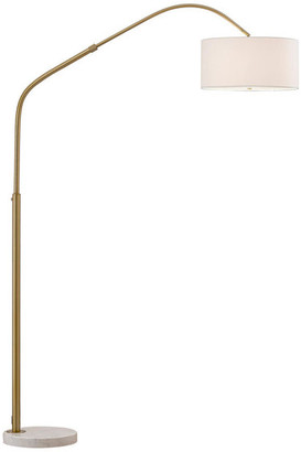 Homeglam Aero Retractable Arch Floor Lamp, Antique Brass