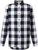 Christian Dior polo collar checked shirt