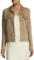 The Row Coltra Lambskin Leather Jacket, Sand