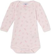 Petit Bateau Baby girls printed long-sleeved bodysuit