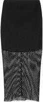 Michelle Mason Open-knit midi skirt