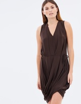 Gary Bigeni Lung Drape V-Neck Dress