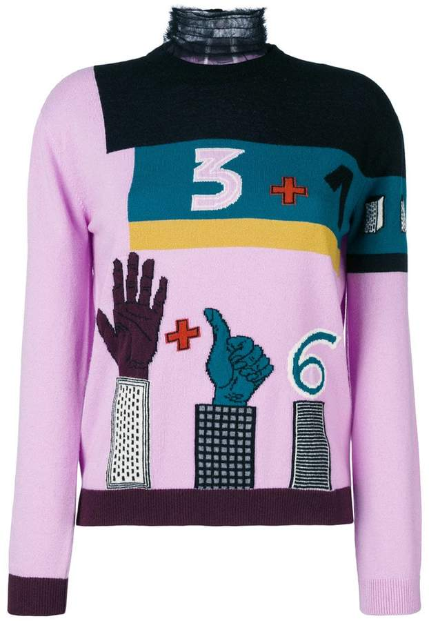 Valentino counting turtle neck jumper