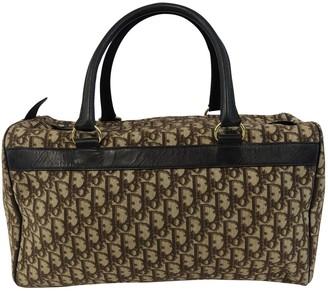 Christian Dior Beige Cloth Travel bags