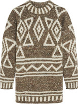J.Crew Intarsia merino wool, alpaca and silk-blend sweater