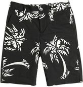 Dolce & Gabbana Palms Printed Cotton Poplin Shorts