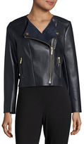 MICHAEL Michael Kors Faux Leather Moto Jacket